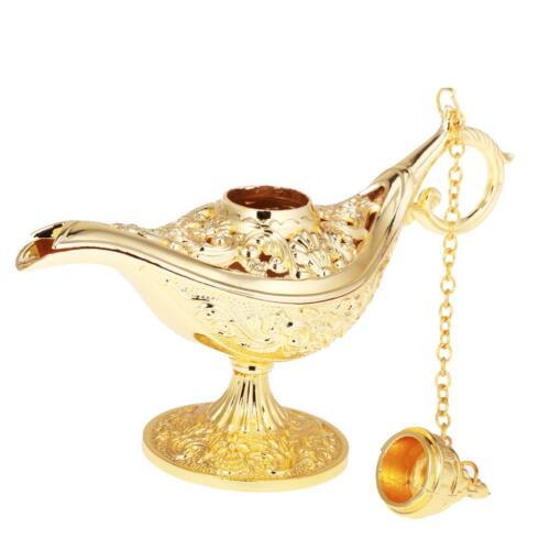 Magic Panto Arabian Genie Oil Lamp Fancy Dress Prop Beads Storage