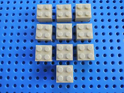 LEGO 10 x Stein Basic Baustein hoch 3003 2x2  dunkelbraun dark brown