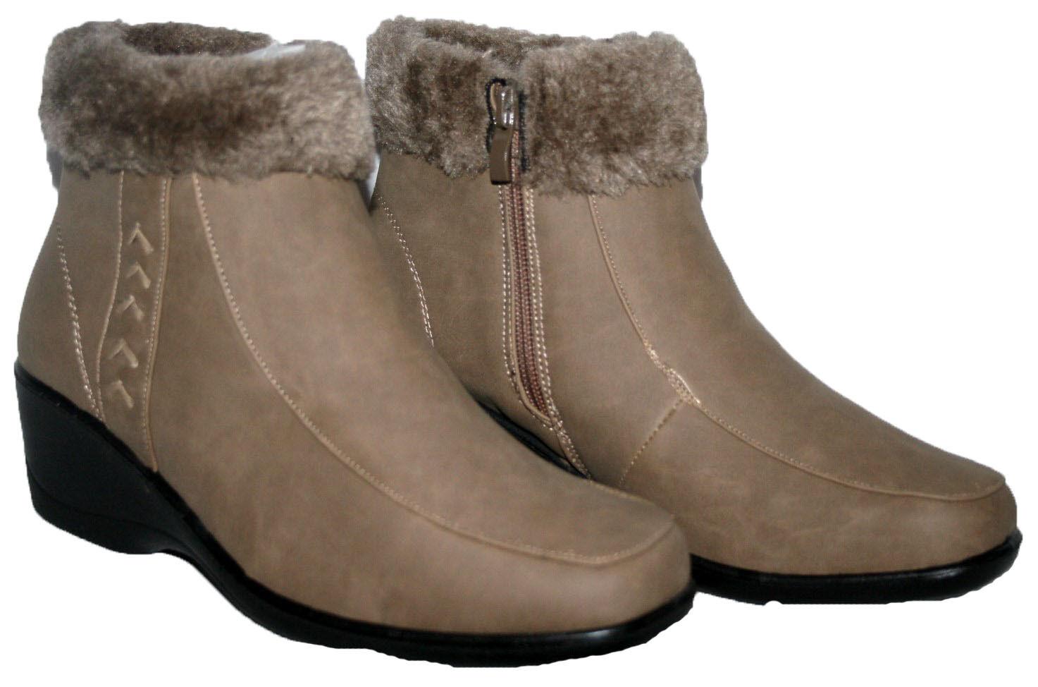 W Pontoon Wide Fit Side Zip Ankle Boot