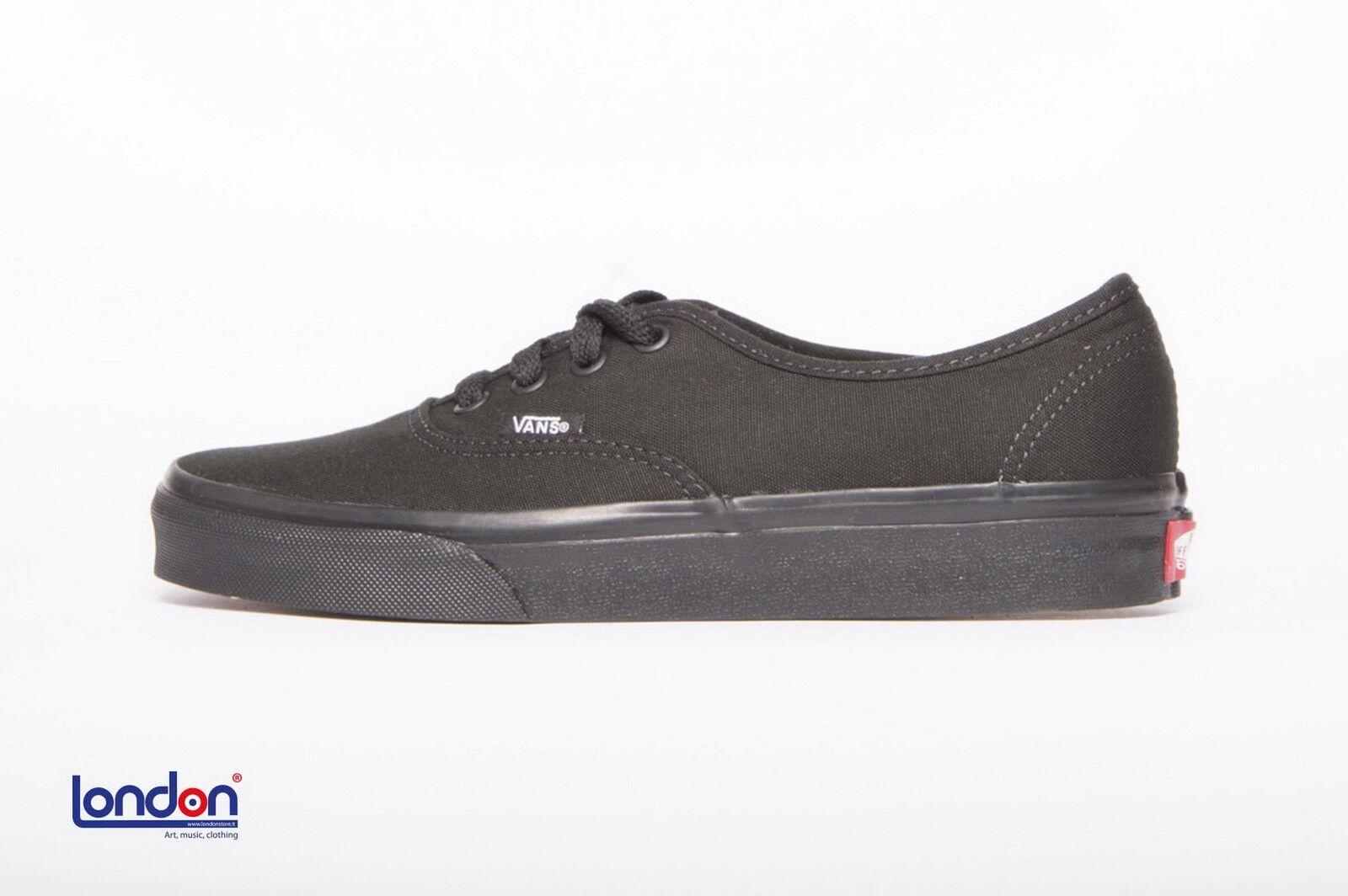 VANS scarpe unisex  AUTHENTIC BLACK BLACK shoes
