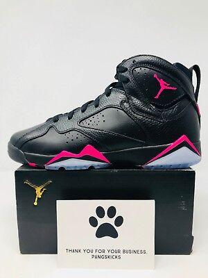 Nike Air Jordan 7 Retro /'Hyper Pink/' Black 442960-018 GS Size 7Y-8.5Y