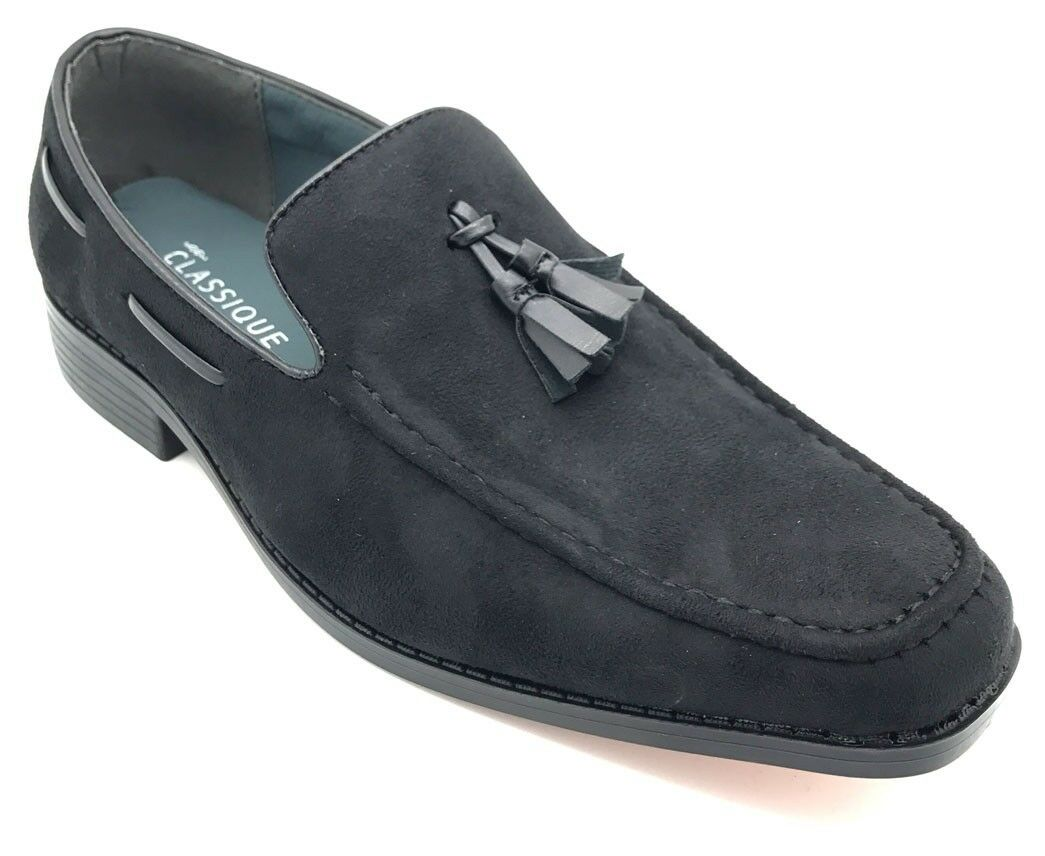 Herren Moccasins Suede On Look Schuhes Slip On Suede Boat Driving Loafers Tassel Belide Smart 2469a6