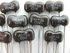 12pcs 180pf 500 Volts 5 Cde Dip Silver Mica Capacitor Great For Rf Ltlt