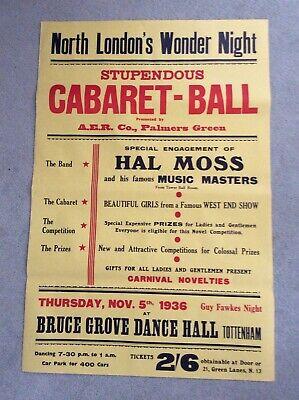 VINTAGE DANCE HALL POSTER 1936