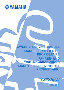 Yamaha-YZ125-V-2006-Owners-Service-Manual-FREE-SHIPPING