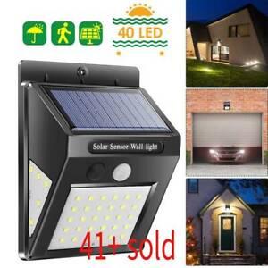 4-Pack-Outdoor-Solarleuchte-Bewegungssensor-Wand-Wasserdicht-Garten-Hof-Lampe-70led