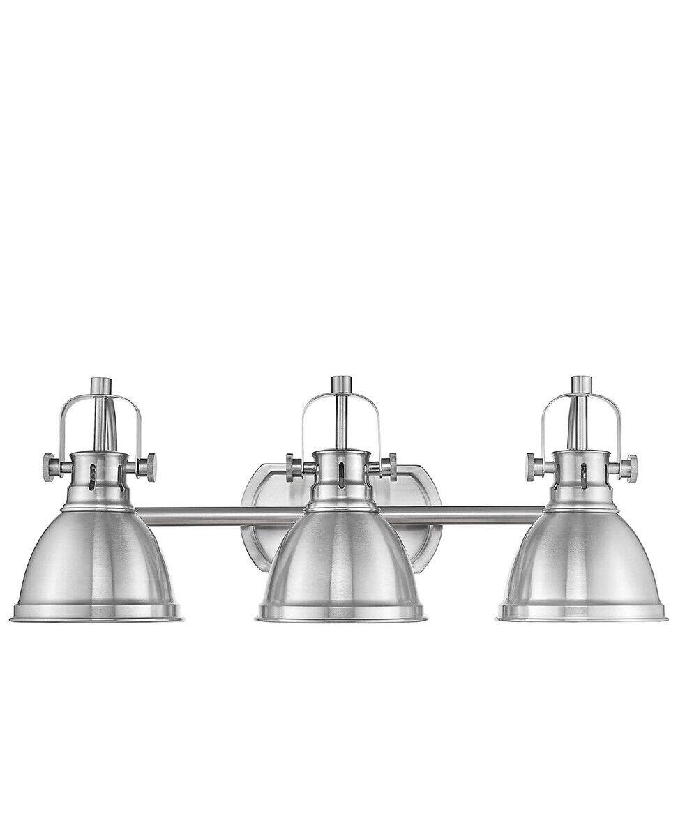 Emliviar Vanity Lights 3 Light Bathroom Fixture Black Finish With Metal Shade For Sale Online Ebay