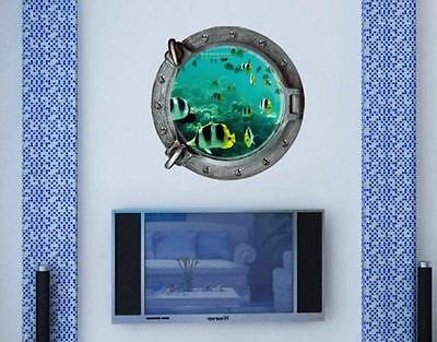 3D ocean fish Home Decor Removable Wall Sticker Decal Decoration Vinyl Mural