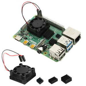 JF Fan Square Cooling Fan with Heatsink Cooler Kit For Raspberry Pi 4