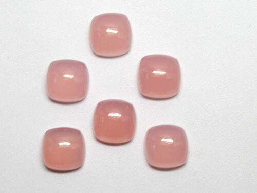 Details about  /Lovely Lot Natural Pink Chalcedony 14X14 mm Cushion Cabochon Loose Gemstone
