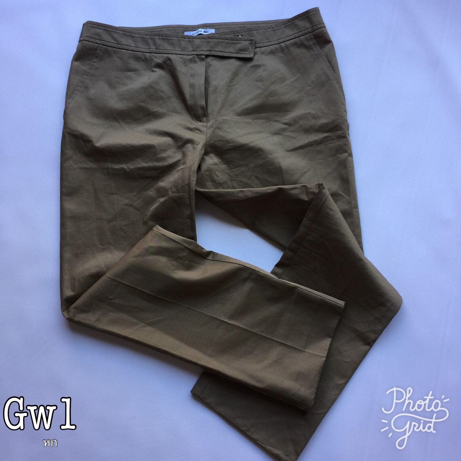 Lacoste Khaki Woman Trousers Size 42 14