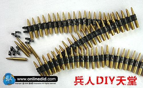 1/6 DID DML 50PC bullet chain F 7.62 caliber SS WWII MG42/34 metal machine MODEL