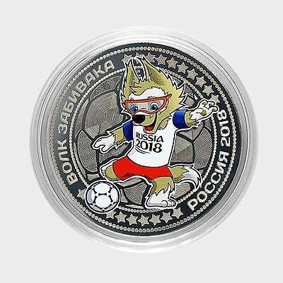 №10 Russia 100 rubles 2018 Mascot FIFA world Cup Russia. Zabivaka