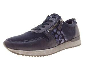 Gabor Damen Schuhe Sneaker Laufschuhe Freizeitschuhe Gr 38 Leder Blau