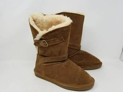 BearPaw Women/'s Faux Fur Lined Slip On Boots Brown Size:6 151N tz NEW