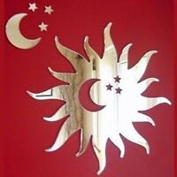 Sun with Cut-Out Moon and Stars Mirror
