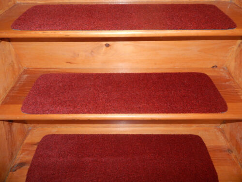 """9/"""" x 30/""""100/% Flexible Vinyl In//Outdoor Stair Treads Peel /& Stick Red Choice Step"""