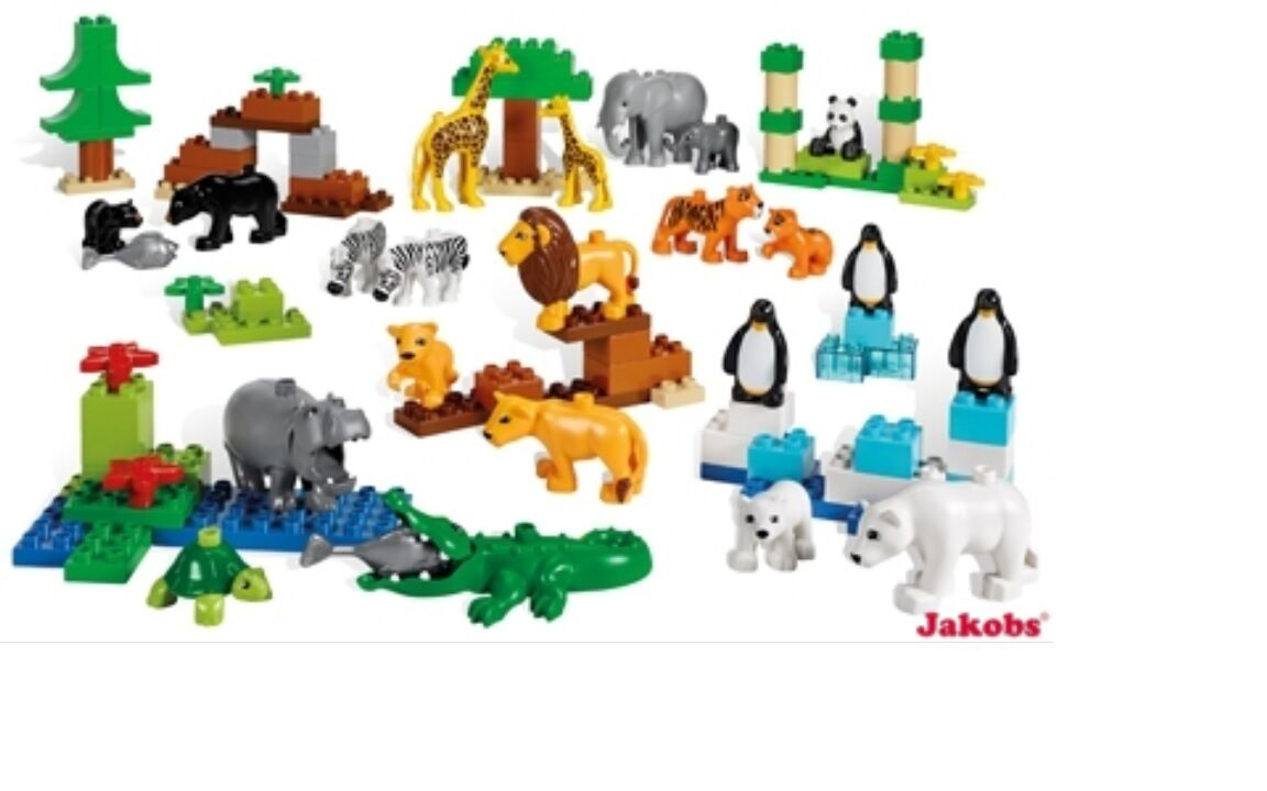 DUPLO Animaux Sauvages Set 5012 Education Animaux Sauvages Safari Lion OURS POLAIRE TIGRE LEGO ®