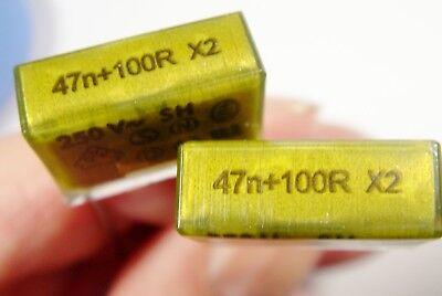 100R 250V interference suppression capacitor entstörglied filtergliedrifa #11 F 40/% 0,047uF 47nF