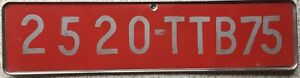GENUINE-Paris-France-French-Temporary-Licence-License-Number-Plate-2520-TTB75