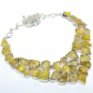 Natural-Citrine-Rough-Handmade-Ethnic-Style-Jewelry-Necklace-18-034-VJ-6984
