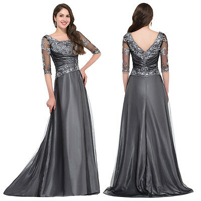 Mermaid Vintage Sexy Women Long Applique Bridesmaid Evening Prom Dress Wedding