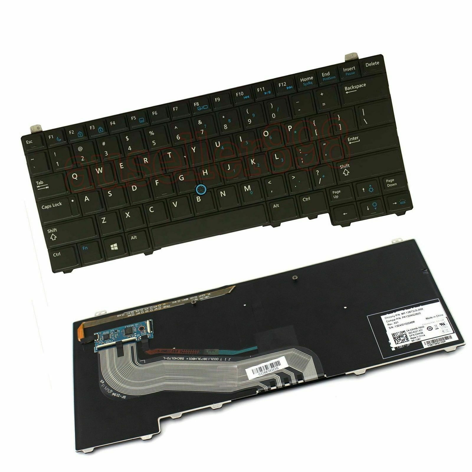 NEW FOR DELL Latitude E5440 Keyboard Backlit Pointer Swedish Tangentbord