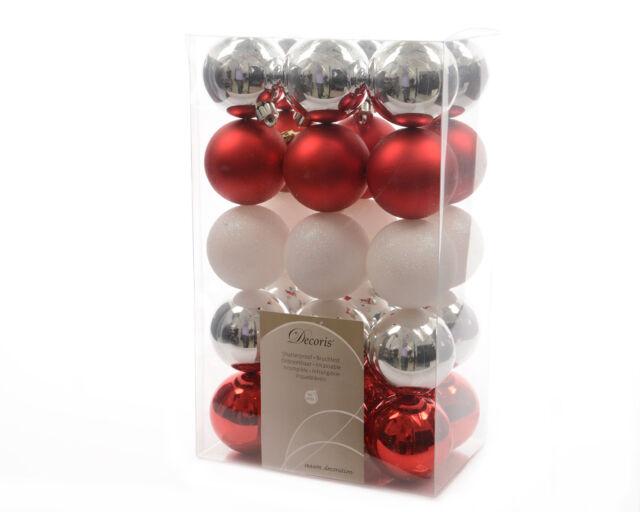 8 Kunststoffkugeln Christbaumkugeln bruchfest rot Ø 60 mm Weihnachtskugel