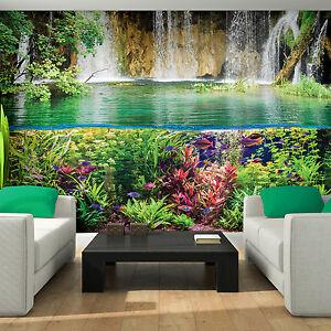 Bild Tapeten Fototapete Wandbild Wand Wasser Wasserfall
