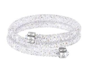 Authentic-89-Swarovski-Crystaldust-Double-Bracelet-White-Size-Small-5255900