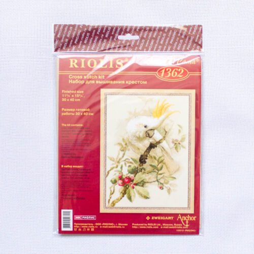 "Counted Cross Stitch Kit RIOLIS 1362 /""White Cockatoo/"""