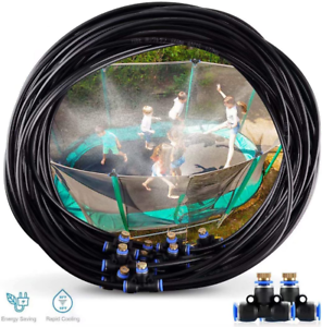 Runpo Trampoline Water Play 50 Feet 12 Nozzles Misting Outdoor Cooling System Ki