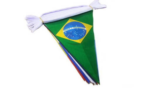 11.5 metre long 32 Multi Nation Triangle World Cup Bunting 32 flag bunting