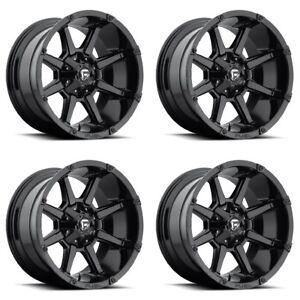 Fuel Truck Wheels >> Details About Set 4 18 Fuel Coupler D575 Black Wheels 18x9 6 Lug 6x135 6x5 5 Truck Rims 20mm