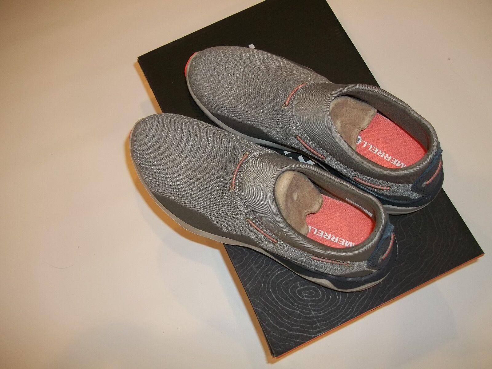 MERRELL Aluminum Gray Slip On Mesh Moc Outdoor Hiking Tennis Schuhe Damenss Sz 10