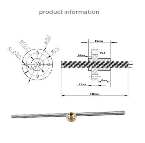 T8 Nut 3D Printer 8mm Acme Threaded Rod Trapezoidal Stepping Motor Lead Screw