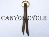 Usa Made Chrome Steel Star Concho W Leather Rosette & Strap Harley Saddlebag