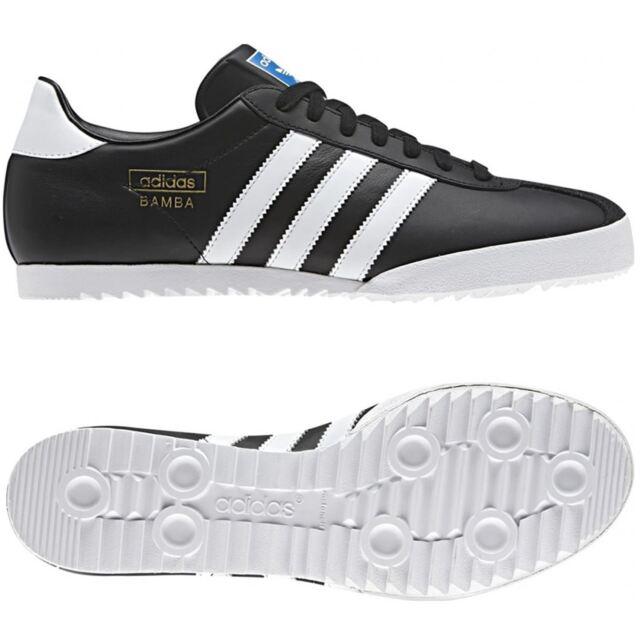 Adidas Originals Bamba Leather Mens Casual Retro Trainers Shoes Sizes UK 7 12