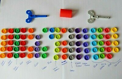 Downfall Game Counters Various Colours /& numbers From Vintage /& Modern Games