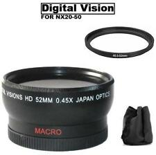 Digital Vision Wide angle Lens, Samsung NX10 NX11 NX1000 NX200 NX300 w/ 20-50mm