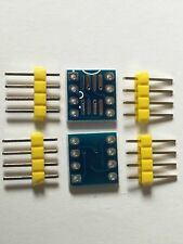 2 PCS SOIC8 SOP8 SO8 SMD to DIP8 Adapter  PCB Convertor Board + Pins