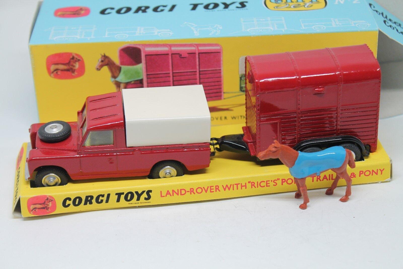 CORGI  TOYS  Land Rover & RICE PONY Poison Set 2  1 43  haute qualité