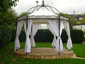 pavillon 6 eckig casablanca metallpavillon gartenlaube gazebo 4 50 m nach ma ebay. Black Bedroom Furniture Sets. Home Design Ideas