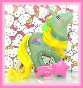 My-Little-Pony-MLP-G1-Vtg-Glitter-Sparkle-STAR-HOPPER-Unicorn-Original-BRUSH