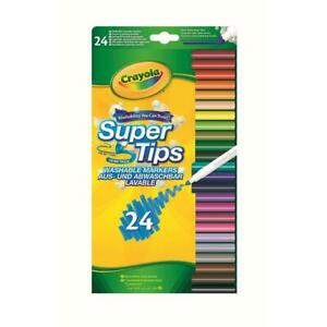 24-Crayola-Bright-Colour-Supertips-Pens-Colouring-Childrens-Art-Drawing