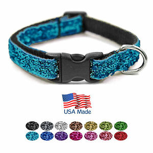 Bark-Boutique-USA-Made-Fashion-Sparkle-Teacup-Small-Dog-Puppy-Pet-Collar-7-11-034