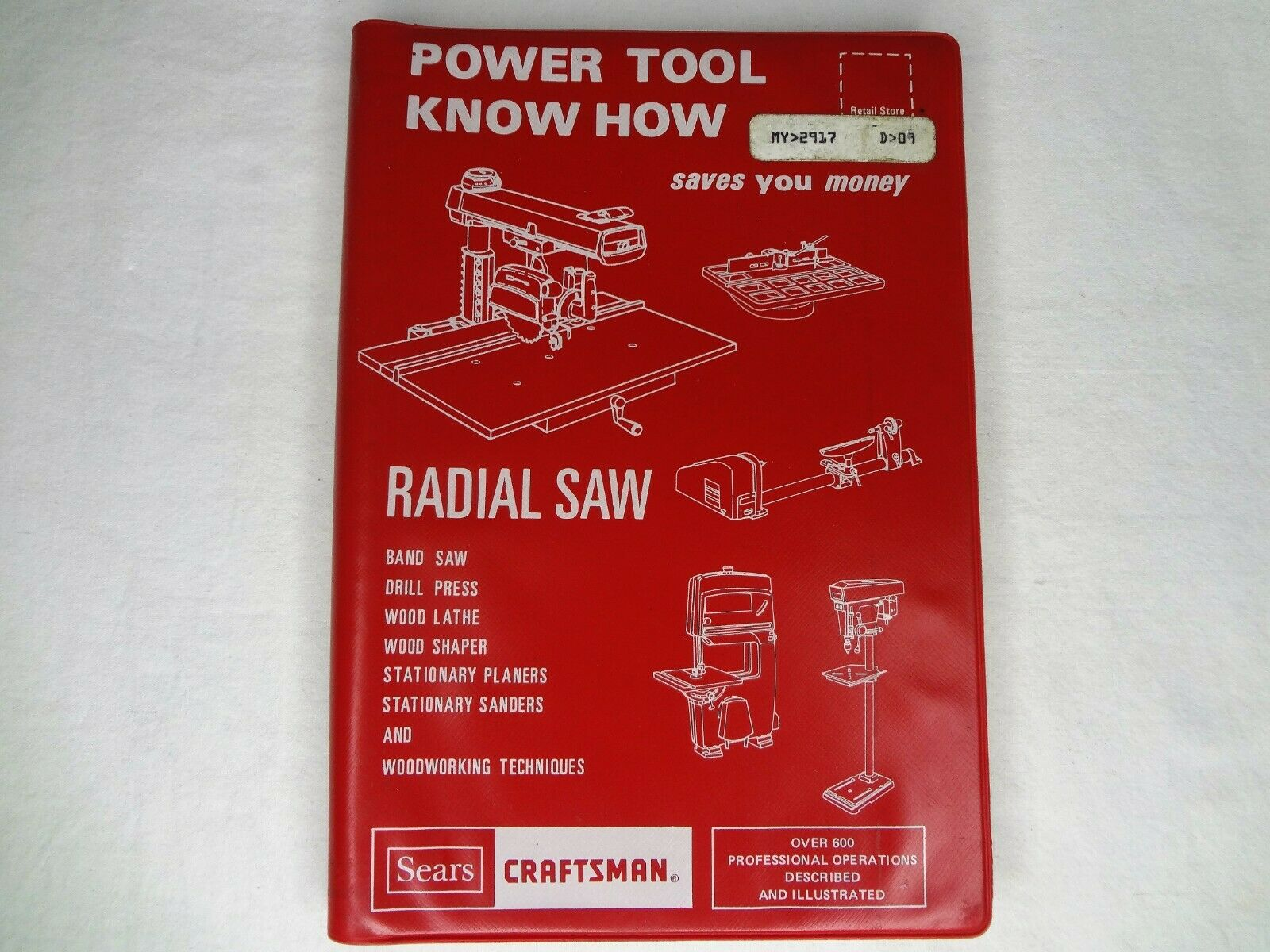 1975 Sears Craftsman Power Tool Know How Radial Saw Manual 9-2917