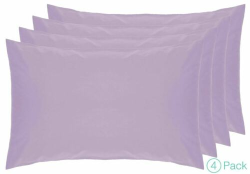 Belledorm 4 PACK Housewife Pillowcases 200 Thread Count 100/% Cotton 2 Pack
