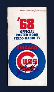 Fergie-Jenkins-signed-1968-Chicago-Cubs-baseball-media-guide