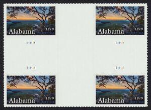 #5360 Alabama Statehood, Cruz Gutter Bloque, Nuevo Cualquier 5=